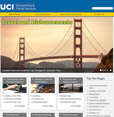 Thumbnail image of the new travel website